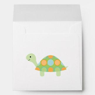 Cute Green Turtle Envelope