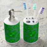 Cute green turtle pattern soap dispenser