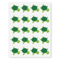 Cute Green Turtle Temporary Tattoos