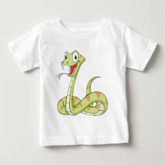 Cute Green Viper Snake Cartoon Shirt
