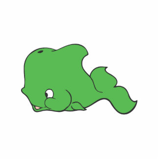 Cute green Whale Cutout