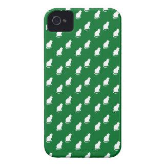 Cute green white cat pattern iPhone 4 cover