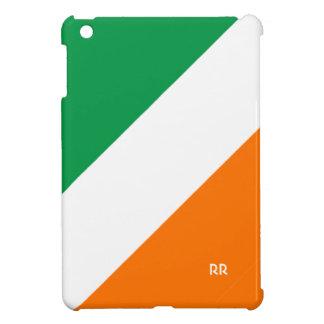 Cute Green White Orange Stripes iPad Mini Case