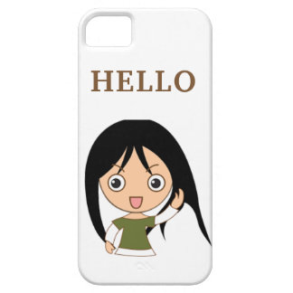 CUTE GREETING HELLO IPONE iPhone SE/5/5s CASE