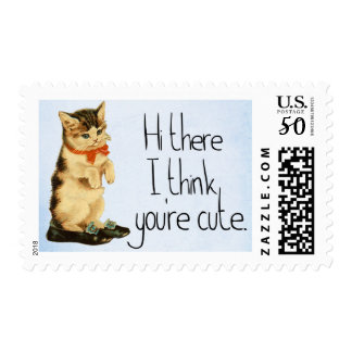 Cute Greetings Kitten Stamp