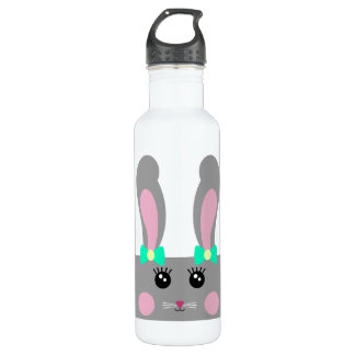 Cute Grey Bunny Bottle