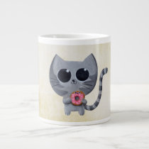 artsprojekt, cat, kitten, kitty, donut, cute donut, kawaii donut, cute, kawaii, sweet donut, kawaii cat, cute cat, cute kitten, kawaii kitten, illustration cat, dessert, illustration, children illustration, children, kid, kids, cat gift, cat present, donut gift, donut present, kawaii gift, kawaii present, [[missing key: type_specialtymu]] com design gráfico personalizado