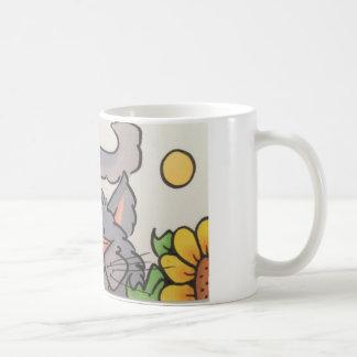 Cute grey cat coffee mug