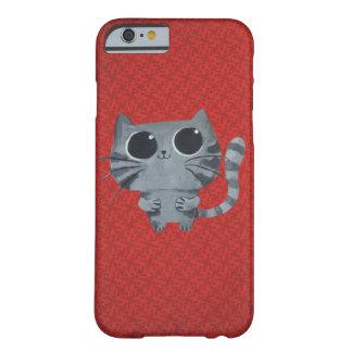 Cute Grey Cat with big black eyes iPhone 6 Case