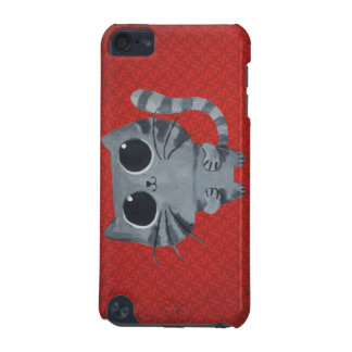 Cute Grey Cat with big black eyes iPod Touch 5G Cases