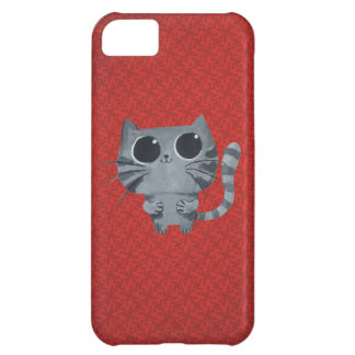 Cute Grey Cat with big black eyes Cover For iPhone 5C