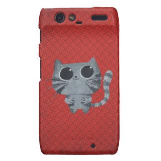 Cute Grey Cat with big black eyes Motorola Droid RAZR Covers