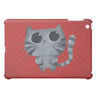 Cute Grey Cat with big black eyes iPad Mini Cover