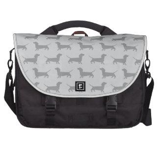 Cute Grey dachshund Dog Pattern Bag Computer Bag