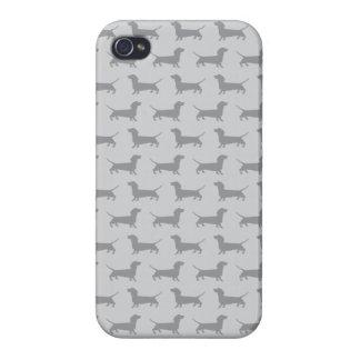 Cute Grey dachshund Dog Pattern iPhone 4 Case