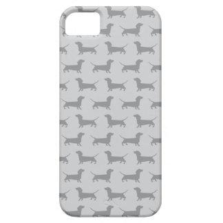 Cute Grey dachshund Dog Pattern iPhone 5 Case