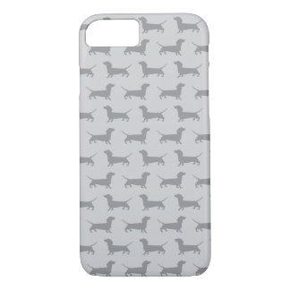 Cute Grey dachshund Dog Pattern iPhone 7 case