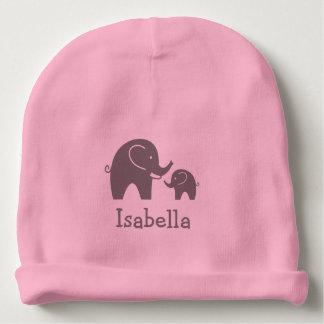 Cute grey elephant girly pink baby beanie hat