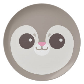Cute Grey Flying Squirrel Face Plate
