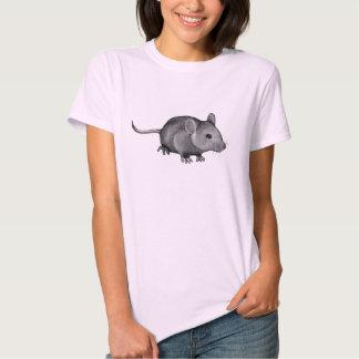 Cute Grey Mouse: Original Pencil Drawing T-shirt