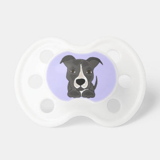 Cute Grey Pitbull Puppy Dog Pacifier
