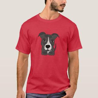 Cute Grey Pitbull Puppy Dog T-Shirt