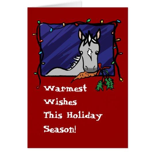 Cute Grey Pony Christmas Card