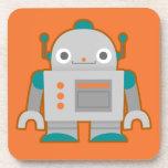 Cute Grey Robot Coaster