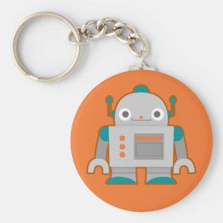 Cute Grey Robot Keychain