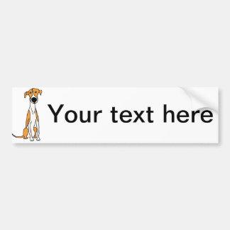 Cute Greyhound Dog Cartoon Original Bumper Sticker