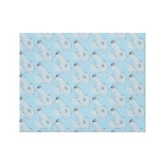 Cute greyhound pattern canvas print