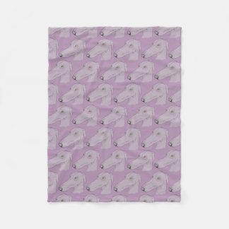 Cute greyhound pattern fleece blanket