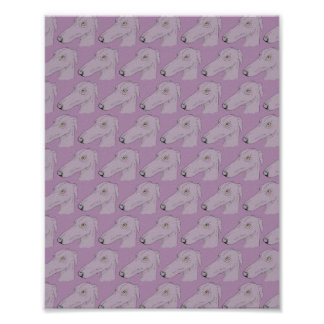 Cute greyhound pattern poster