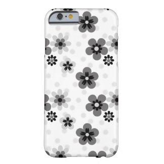 Cute Greyscale Flower pattern Barely There iPhone 6 Case