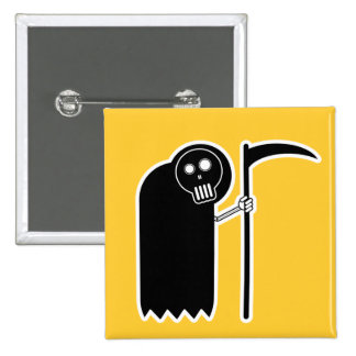 Cute Grim Reaper button
