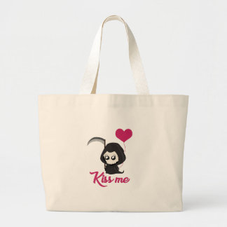 Cute Grim Reaper Large Tote Bag