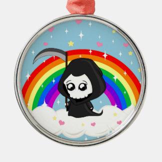 Cute Grim Reaper Metal Ornament