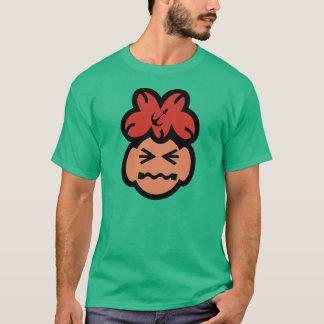 Cute Grimacing Face Men Dark T Shirt