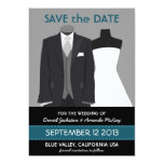 Cute Groom and Bride Mannequin Save the Date Personalized Invites