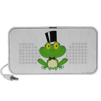 cute groom cartoon frog character notebook speakers