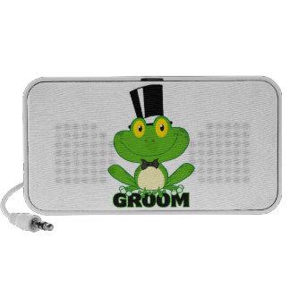 cute groom cartoon frog character PC speakers