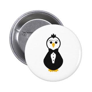 Cute Groom Penguin Pins