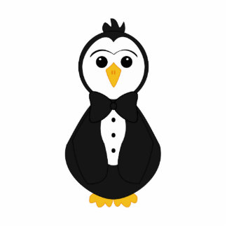 Cute Groom Penguin Acrylic Cut Outs