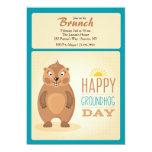 Cute Groundhog Day Invitation