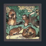 "Cute Groundhog Family Vintage Illustration Gift Box<br><div class=""desc"">Cute Groundhog Family