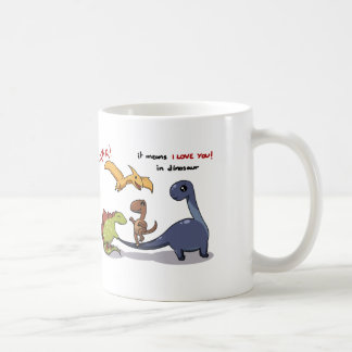 Cute Group of Dinosaurs Rawr Means We love you :) Coffee Mug