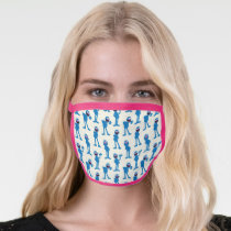 Cute Grover Pattern Face Mask