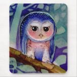 Cute grumpy Owl Mouse Pads