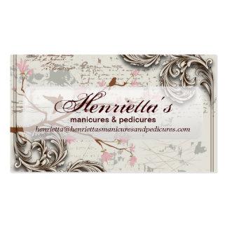 Cute Grunge Floral Business Card