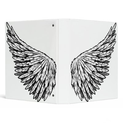 Cute Guardian Angel 39s Wing s Vector Art Binders by mannysThoughts
